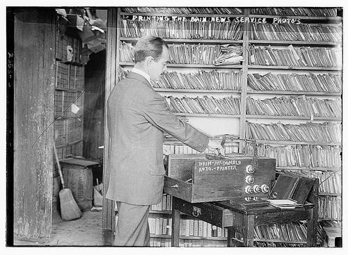 Printing the Bain News Service Photos (LOC)