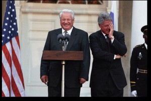 William Clinton and President Boris Nikolayevich Yeltsin